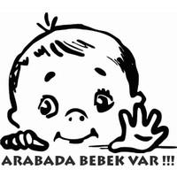 Stickermarket Arabada Bebek Var Beyaz