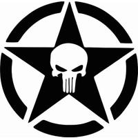 Stickermarket Punisher Beyaz Sticker
