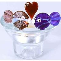 Cam Stüdyo Aşkın En Güzel Hali- Balık ve Kalp Mumluk