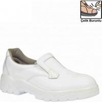 Mekap 060 Beyaz İş Ayakkabısı Çelik Burunlu