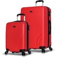 My Valice Trend 2'Li Valiz Seti (Kabin Ve Büyük) Kırmızı