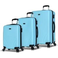 My Valice Trend PP 3'Lü Valiz Seti Açık Mavi
