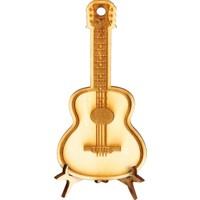 Ahşap Tasarım Gitar Resmi Tahta Lazer Kesim ve İşlemeli
