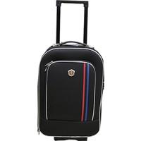 Nk Valiz Şeritli Kumaş 001 Kabin Boy - Siyah