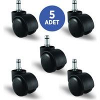 5 Adet Ec03Gmkm50, Pimli Mobilya Tekerleği Koltuk Tekeri, Çap:50, 5Li Set, Geniş Tip