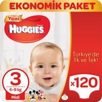 Huggies Bebek Bezi Midi 3 Beden Ekonomik Paket 120 Adet