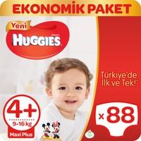 Huggies Bebek Bezi Maxi Plus 4+ Beden Ekonomik Paket 88 Adet