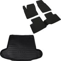 Fiat Egea Sedan Siyah 3D Havuzlu Paspas ve Bagaj Havuzu