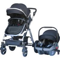 Yoyko Luxury Seyahat Sistem Bebek Arabası 3 İn 1 Siyah