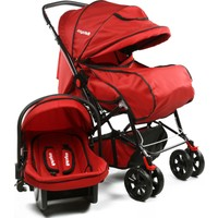 Asyamo Keeper Seyahat Sistem Bebek Arabası / Kırmızı