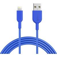 Anker Powerline II Lightning 0.9 Metre iPhone Şarj/Data Kablosu MFI Lisanslı- Mavi