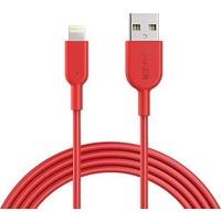 Anker Powerline II Lightning 0.9 Metre iPhone Şarj/Data Kablosu MFI Lisanslı- Kırmızı