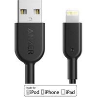 Anker Powerline II Lightning 0.9 Metre iPhone Şarj/Data Kablosu MFI Lisanslı- Siyah