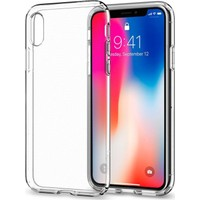 Spigen Apple iPhone X Kılıf Liquid Crystal 4 Tarafı Kapalı Crystal Clear - 057CS22118