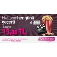 Tüm Cinemaximum'lar (İstanbul, Ankara, İzmir Hariç - 3D Hariç) - Sinema Bileti