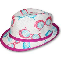 Monna Rosa Desenli Çocuk Şapka - Fuşya