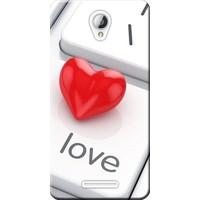 Kılıf Merkezi Lenovo A5000 Kılıf Silikon Baskılı Red Love STK:303