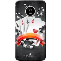 Kılıf Merkezi Lenovo Moto G5 Kılıf Silikon Baskılı Poker AAAA STK:219