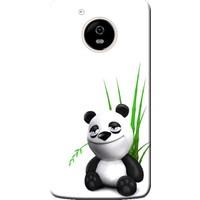 Kılıf Merkezi Lenovo Moto G5 Plus Kılıf Silikon Baskılı Sevimli Panda STK:168