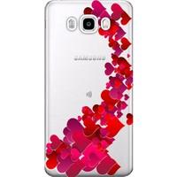 Kılıf Merkezi Samsung Galaxy J7 Core Kılıf SM-J701 Silikon Baskılı Kalp Cümbüşü STK:319