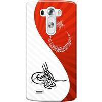 Kılıf Merkezi LG G3 Beat Kılıf H723 Silikon Baskılı Tuğra Bayrak STK:363