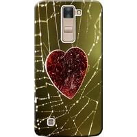Kılıf Merkezi LG G4C Kılıf H525 Silikon Baskılı Kalp STK:117