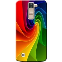 Kılıf Merkezi LG G4C Kılıf H525 Silikon Baskılı Renk Dalgası STK:124