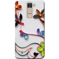 Kılıf Merkezi LG G4C Kılıf H525 Silikon Baskılı Çiçek Desen STK:220