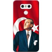 Kılıf Merkezi LG G6 Kılıf H870 Silikon Baskılı Atatürk STK:105