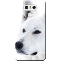 Kılıf Merkezi LG G6 Kılıf H870 Silikon Baskılı Beyaz Kurt STK:169