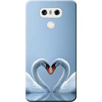 Kılıf Merkezi LG G6 Kılıf H870 Silikon Baskılı Kuğ ve Kalp STK:305