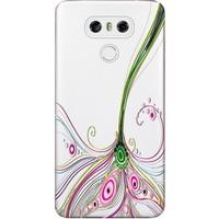 Kılıf Merkezi LG G6 Kılıf H870 Silikon Baskılı Renli Çizgi STK:358