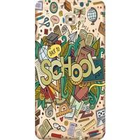 Kılıf Merkezi Samsung Galaxy J7 Max Kılıf G615 Silikon Baskılı School STK:328