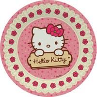 Balon Evi Orijinal Lisanslı Hello Kitty 8'li Kağıt Tabak