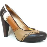 Elberdi Kahverengi Taba Bej Bayan Platform Ayakkabı