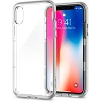 Spigen Apple iPhone X Kılıf Neo Hybrid Crystal Satin Silver - 057CS22174