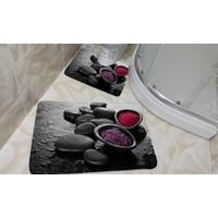 Erguvan Halı Digital Baskı 3 Boyutlu Banyo/Klozet Takımı