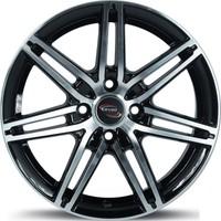 ARCEO 7116-03 15'' 6.5 Offset 4x100 ET35 Honda-Hyundai-Kia-Fiat-Renault Uyumlu Black Polished Jant
