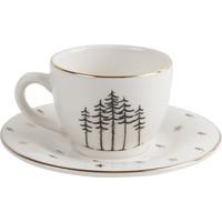 Porland Forest Tabaklı Kahve Fincanı 85Cc