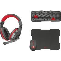 Trust Zıva Gaming Oyuncu Kulaklık + Klavye + Mouse + Mousepad