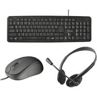 Trust 21657 Ziva Klavye + Ziva 21508 Optik Mouse + Ziva 21517 Chat Kulaklık