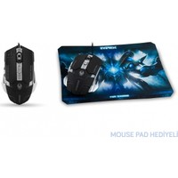 Everest Sgm-X9 Usb Siyah Gaming Mouse Pad Oyuncu Mouse