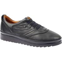 Shalin Hakiki Deri Günlük Kadın Ayakkabı - Est 502 Lacivert