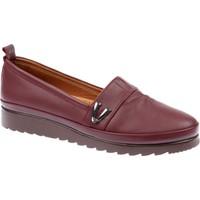 Shalin Hakiki Deri Günlük Kadın Ayakkabı - Est 161 Bordo