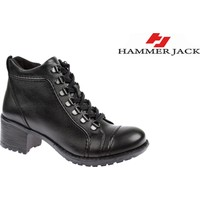 Hammer Jack Hakiki Deri Kadın Bot - Hmr 2978 Siyah