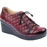 Shalin Hakiki Deri Bordo Kadın Ayakkabı - Hkn 531