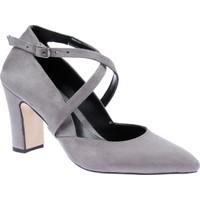 Shalin Klasik Kadın Ayakkabı - Tlg 139 Gri Süet