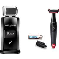 Daniel Hechter Black Erkek Parfüm 100 ml + Philips BG105/11 Erkek Vücut Bakım Tıraş Makinesi 2'li Set