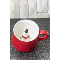 Ceramic Cup Porselen Sürpriz Kardanadam Kupa