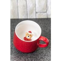 Ceramic Cup Porselen Sürpriz Ayıcıklı Kupa